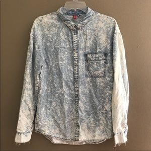 H&M Acid Washed Button Down Shirt